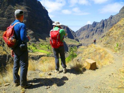 Santo Antao Wanderung Abstieg von Alto Mira
