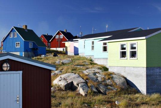 Bunte Häuser von Tasiilaq