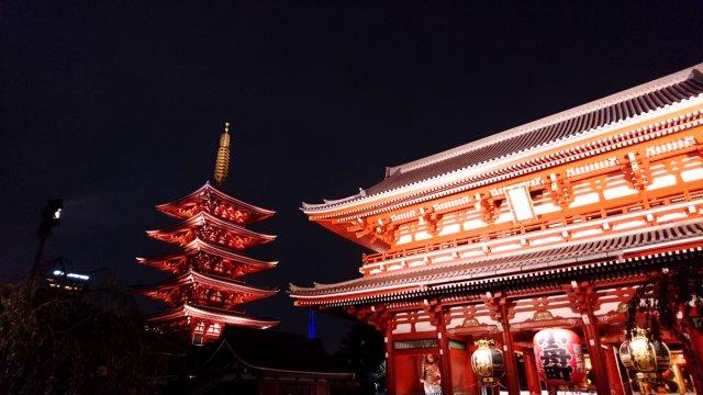 Tempel Sensō-ji in Asakusa Tokyo
