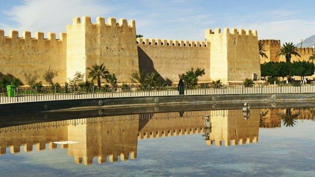Taroundant Stadtmauer Spiegelung