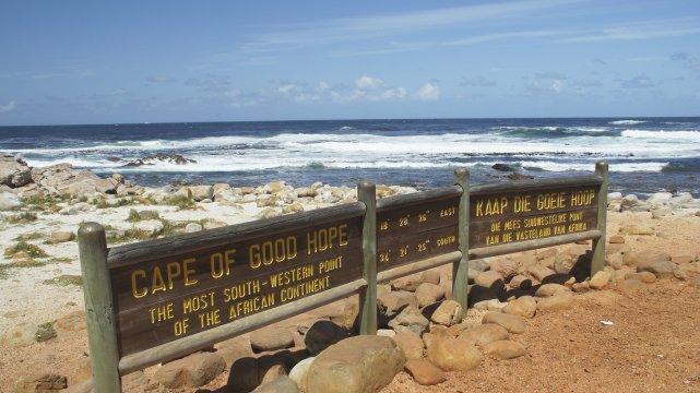 Schild am Kap der Guten Hoffnung