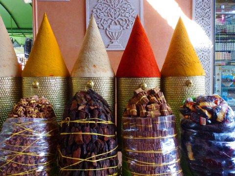 Marokko Gewuerze Markt