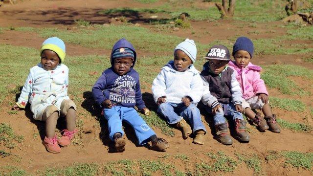 Kleine Kinder in Lesotho