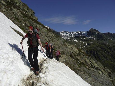An Zustieg zum Gletscherkurs 2