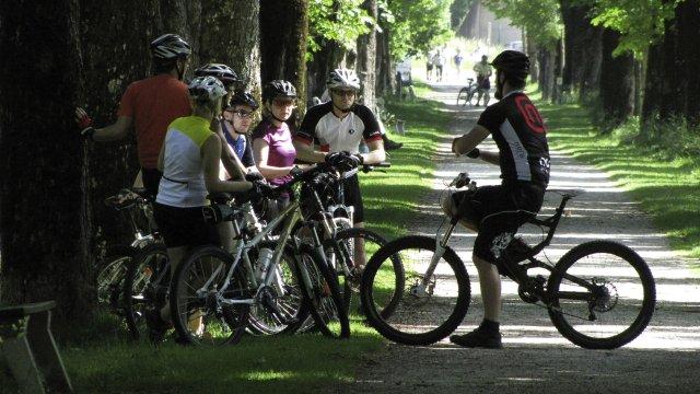 Mountainbike Lagebesprechung