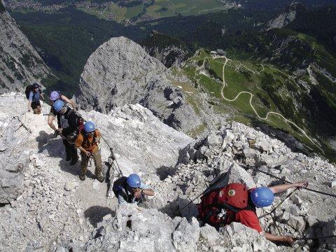 Klettersteig Alpspitze : Alpspitz klettersteig im wettersteingebirge