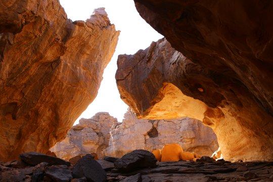 Felslandschaft im Tigalayen Plateau im Ajjer National Park