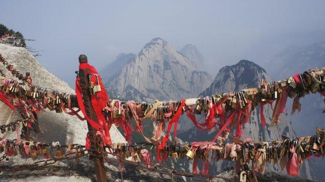 Gipfel im Huashan