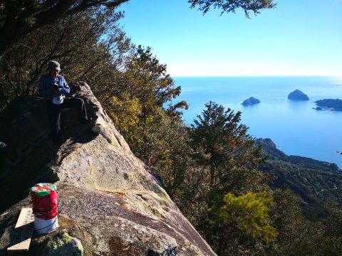 Blick am Kumano-Kodo-Pilgerweg bei Ise aufs Meer