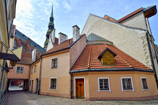 Gasse in Riga Lettland