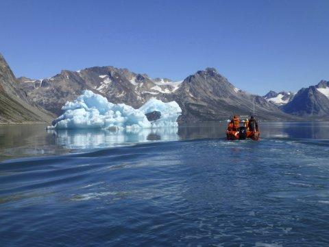 Bootsfahrt zum Knud-Rasmussen-Gletscher