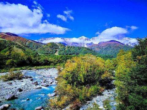 Flusslandschaft bei Hakuba