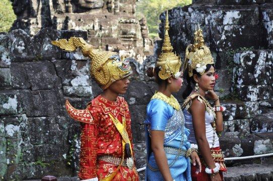 Kambodscha Angkor Apsara Taenzer