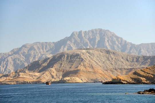 Mussandam, Dhaw-Fahrt mit Schiff