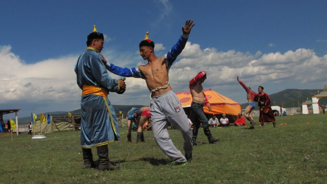 Naadam Fest im Dorf Renchilum