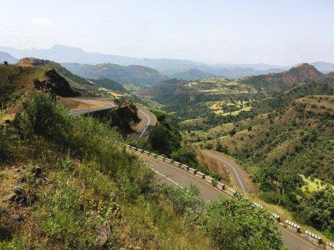 Serpentinenstraße in Äthiopien