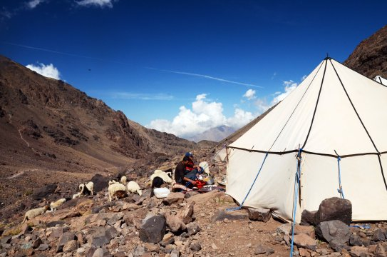 Marokko Toubkal Base Camp Zelt