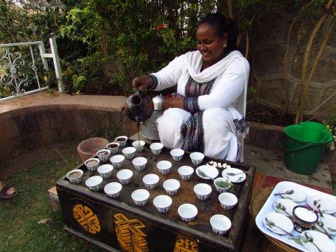 Kaffeezeremonie in Lalibela