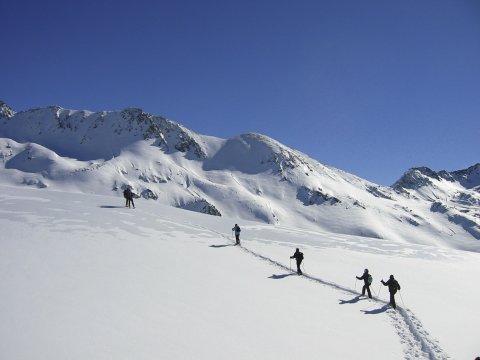 Auf Schneeschuhen über den Bergrücken 2
