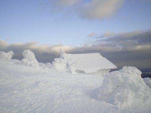 Schneeschuhgehen Baerischer Wald Berghuette