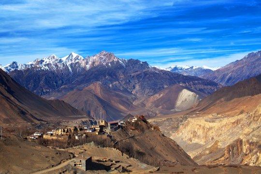 Blick auf das Dorf Jarkot