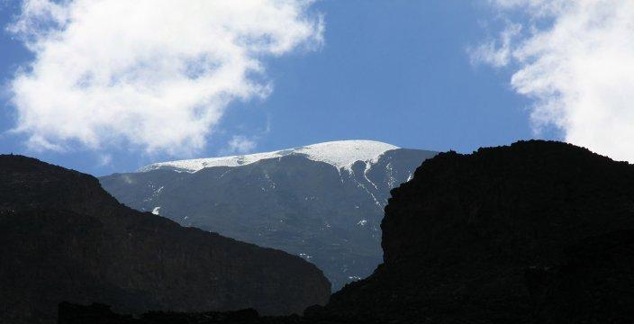 Kili Northern Circuit Blick auf die Icefields
