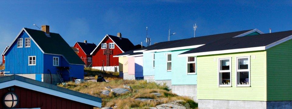 Bunte Häuser von Ostgrönland