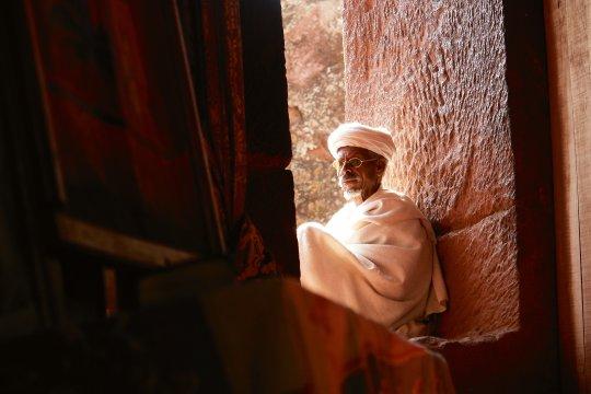Mann in Lalibela