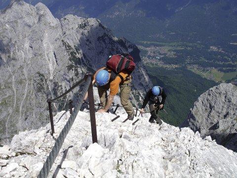 Klettersteigset Unterschiedlich Lang : Alpspitz klettersteig im wettersteingebirge