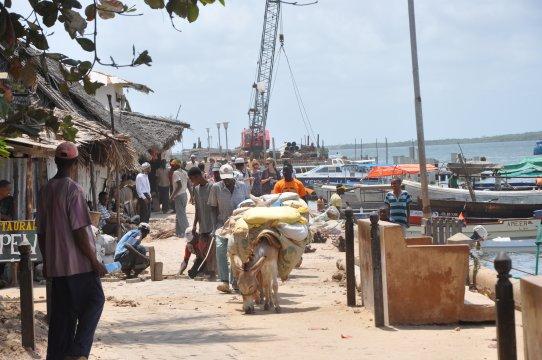 Kenia-Lamu-Hafen