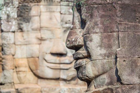Angkor Bayon Steinskulptur