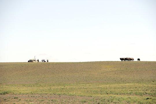 Nomadenfamilie in der Gobi