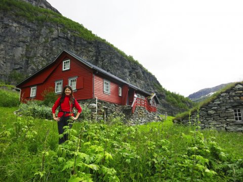Hütte am Aurlandsdalen