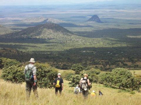 Kenia-Abstieg-Chyulu-Hills