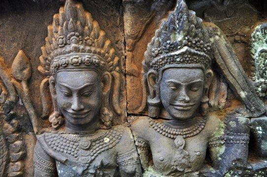 Kambodscha Angkor Apsara Taenzerinnen