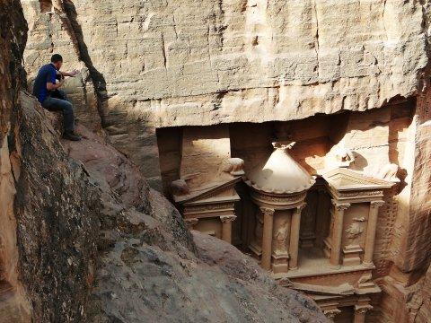 Jordanien Schatzhaus Felstempel Petra