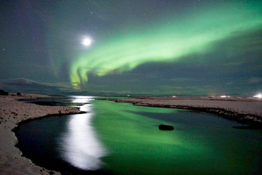 Magische Stimmung im Polarlicht