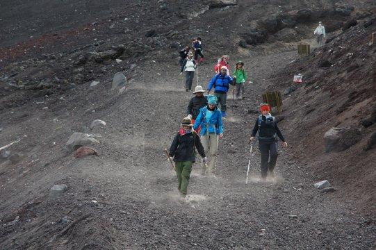 Mt Fuji Abstieg
