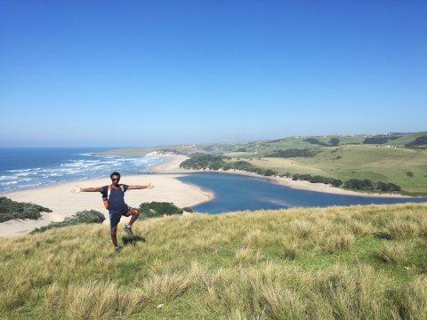 Guide auf Wanderung zwischen Coffee Bay Lubanzi and Bulungula