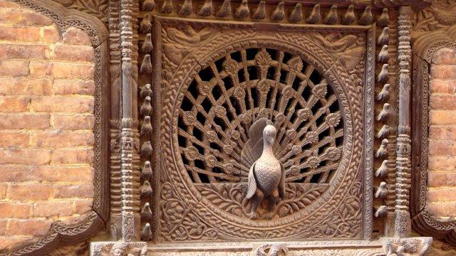 Pfauenfenster in Bhaktapur