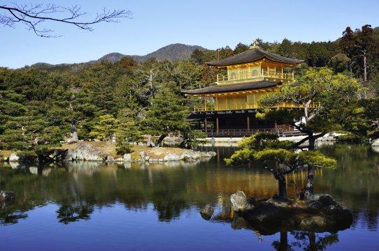 Kyoto Kinkakuji Tempel goldener Pavillion quer_2