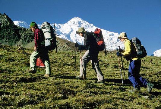 Trekking - Aufstieg zum Mesokantu Paß aus dem Kali Gandaki Tal 2