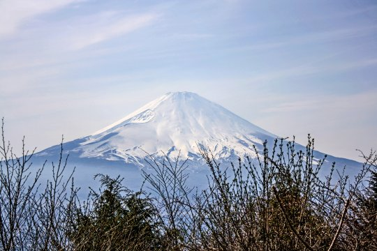 Schnee auf dem Fuji