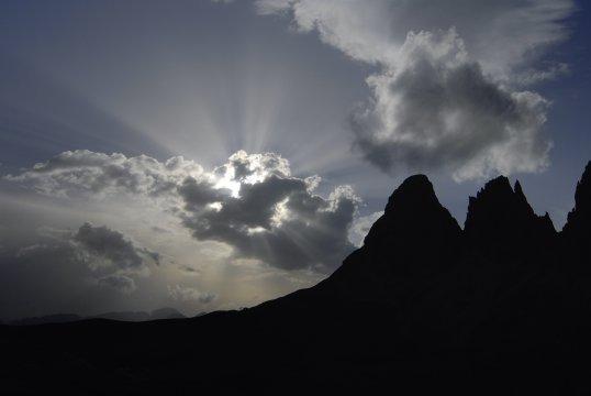 Dolomiten Langkofelmassiv Sonnenuntergang 2