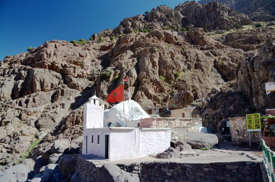 Hoher Atlas - Moschee Sidi Chamharouch