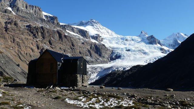 Gagliero Gletscher mit Hütte