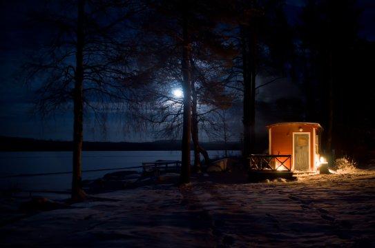 Hütte am Basecamp