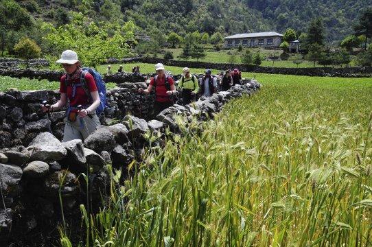 Trekking durch das ländliche Nepal
