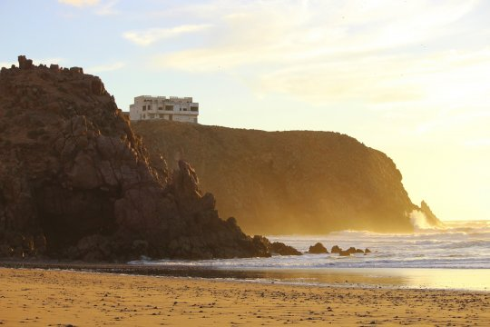 Marokko Sonnenuntergang am Strand von Mirleft Atlantik_2
