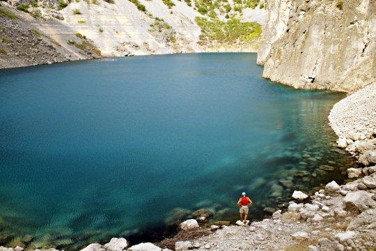Einsam am Modro Jezero (Blauer See)